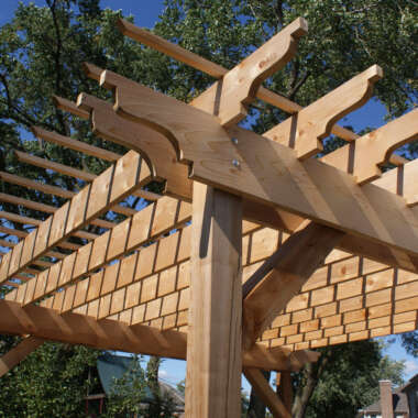 Outdoor Wood Patio Structures, Pergola Canopy, Elmhurst, IL