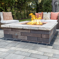 Fire Features, Fire Pits, Fireplaces, Log Sets, Wood Burning