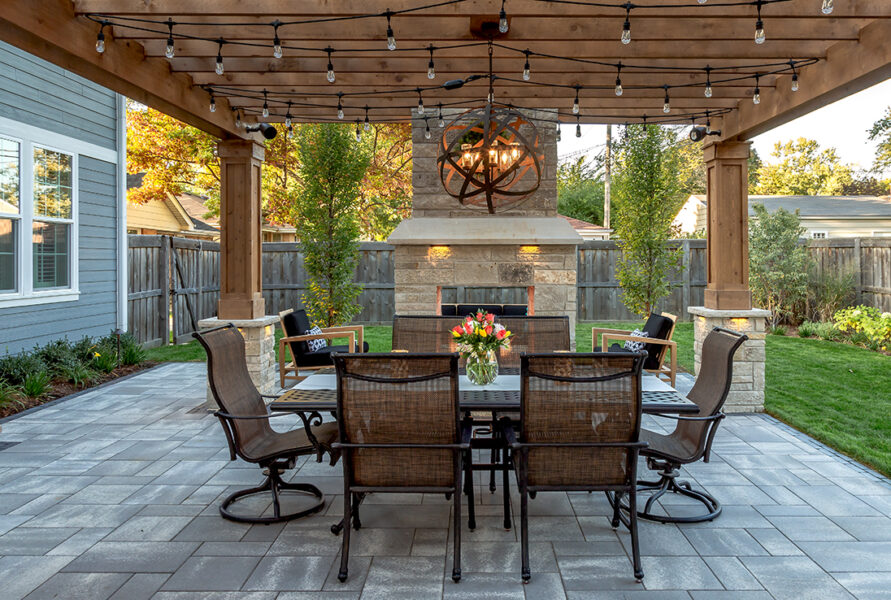 Fireplace Outdoor Dining