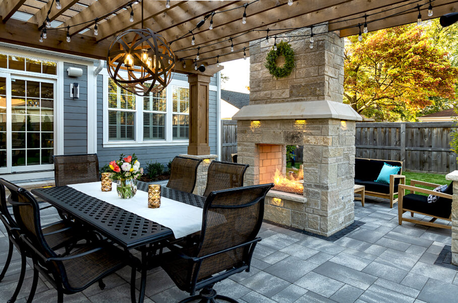 Masonry Patio and Fireplace