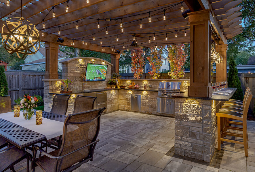 Masonry Outdoor Kitchen Columns