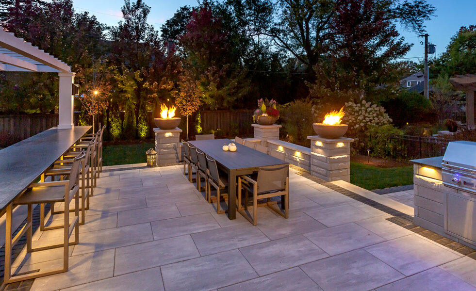 Fire Bowls Outdoor Dining