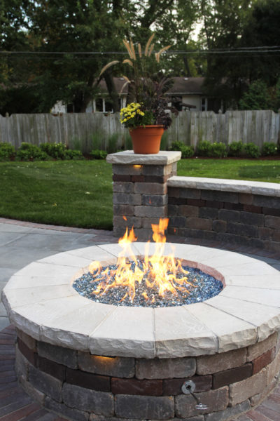 Circular Blue Stone Fire Pit