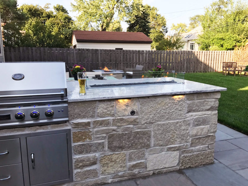 Grill Overlooking Backyard