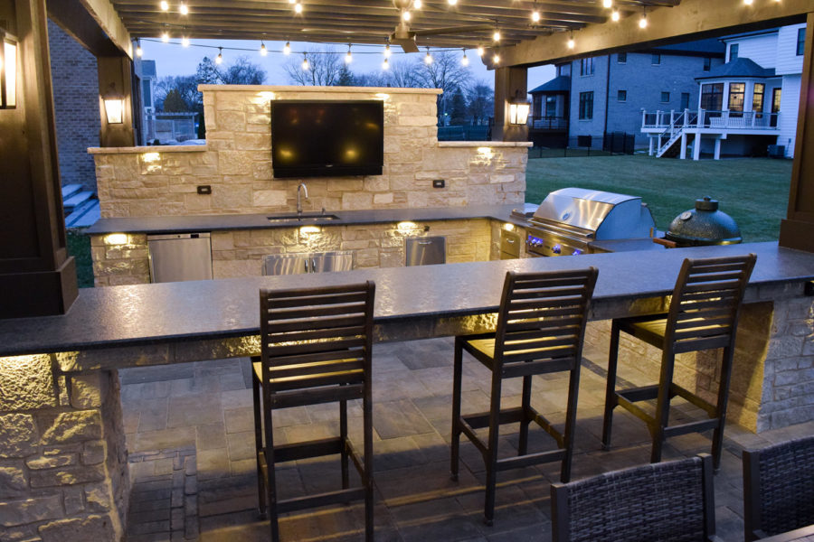 Outdoor Kitchen Night