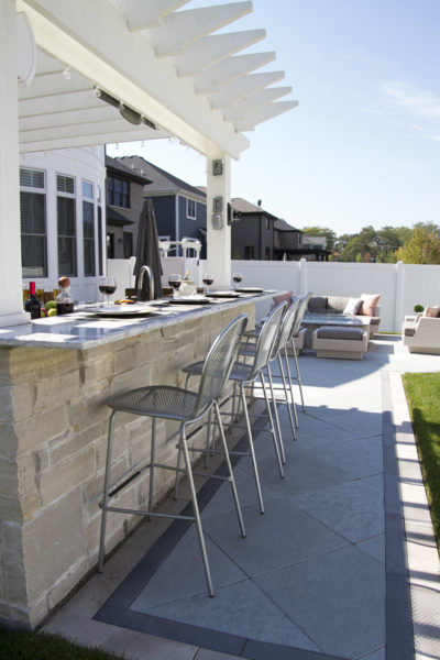 Outdoor Stone Bar